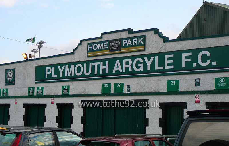 Plymouth Argyle FC Home Park Panoramic Highslide JS