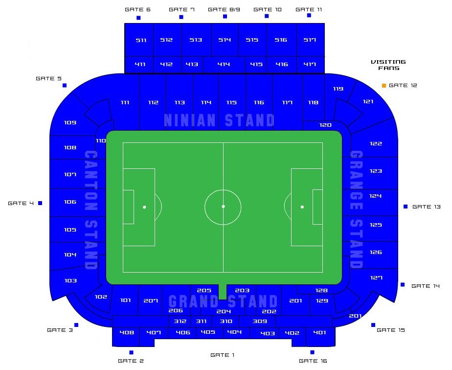 Bristol City Stadium Seating Plan Cardiff City Stadium Seating