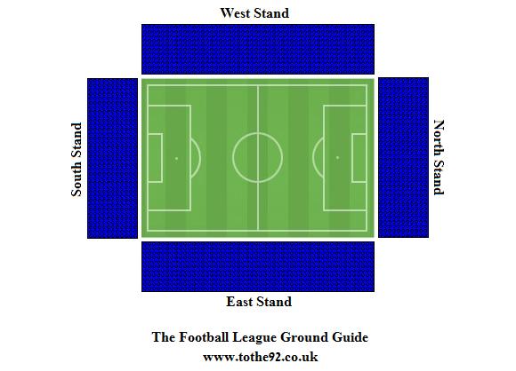 Weston Homes Community Stadium Seating Plan